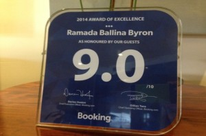 Booking.com  - 2014 Award for Excellence - 9 out of 10